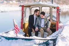 Voyage   Event   Winter Wedding   Michigan   Tugboat   Event Design: Take A Seat Events   Photo: Amanda Dumouchelle Photography