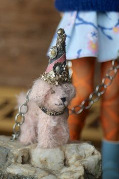 ooak party pet by Letty Worley available at www.EarthAngelsStudios.com with a custom Blythe doll... a great combo…
