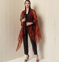 V1505, Misses' Kimono-Style Jackets