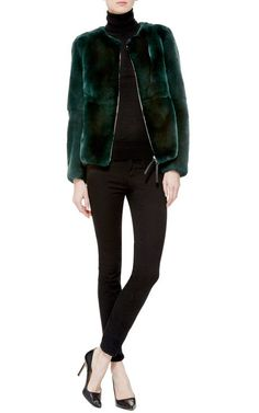 Get inspired and discover Marni Furs trunkshow! Shop the latest Marni Furs collection at Moda Operandi. Rabbit Fur Jacket, Cool Style, My Style, Emerald Color, Casual Outfits, Casual Clothes, Marni, Ready To Wear, Autumn Fashion