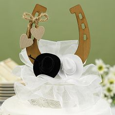 Country Wedding Cake Toppers on Horse Shoe Wedding Cake Topper Wedding Cakes Western Wedding Cakes, Country Wedding Cake Toppers, Cowgirl Wedding, Wedding Cake Decorations, Wedding Topper, Western Weddings, Western Cakes, Horse Wedding, Western Theme