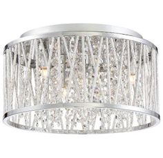 """View the Platinum PCCC1614 Crystal Cove 4 Light 14"""" Wide Flush Mount Ceiling Fixture with Clear Glass at Build.com."""