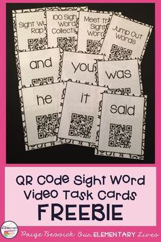 QR Code sight word v