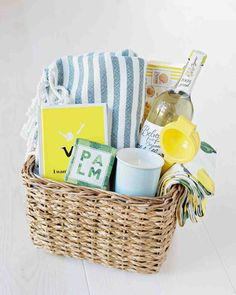 24 Yellow Wedding Ideas That Will Make Your Day Bright and Cheery hannah chris wedding north garden va gifts Best Gift Baskets, Themed Gift Baskets, Raffle Baskets, Gifts For Wedding Party, Party Gifts, Wedding Ideas, Spa Gifts, Wedding Details, Diy Wedding
