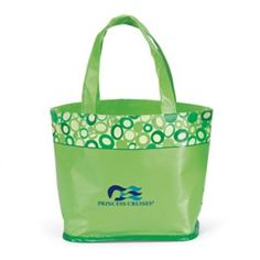 Summer Green Annabelle Laminated Promo Tote Bag - As low as $1.18 each with imprint!