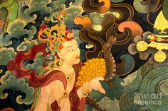 Craig Lovell Poster featuring the photograph Dakini With Nagas - Sera Monastery Tibet by Craig Lovell Medical Illustration, Illustration Art, Illustrations, Tibet Art, Watch Drawing, Thing 1, Sacred Art, Art Portfolio, Religious Art