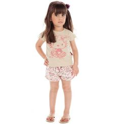 Blusa Hello Kitty. Tam: 06-08-10
