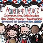 American heroes: A Biography Bonanza A common core, collaborative, non-fiction writing and research unit!  *Please see file preview for an image of...