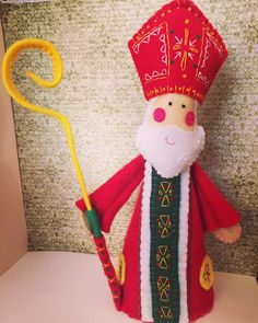 ST NICHOLAS ~ a PDF pattern for a hand embroidered felt St Nicholas ornament and free standing decoration Grinch Christmas, Father Christmas, Little Christmas, Christmas Carol, Christmas Gifts, Letter Explaining Santa, Santa Letter, St Nicholas Day, Charlie Brown Christmas