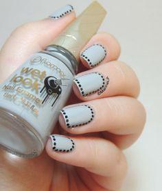 Nailstorming - Framed Nails! - Flormar - Glitter - Glitter framed nails