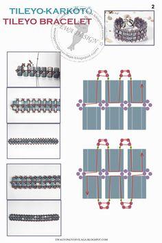 tissage de cubes. Cubes bracelet tutorial.