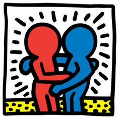 Buy Keith Haring: Figures Embracing from just Tate Custom Prints - quality art prints on demand. Keith Haring Prints, Keith Haring Poster, Keith Haring Art, Chalk Drawings, Art Drawings, Acid Trip Art, Framing Canvas Art, The Embrace, Hippie Art