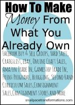 Selling Saturdays: A growing list of posts showing you how to turn your unused or under used items into cash - Snail Pace Transformations Money Making Ideas Make Money From Home, Way To Make Money, Make Money Online, How To Make, Money Fast, Money Tips, Money Saving Tips, Sell Your Stuff, Things To Sell