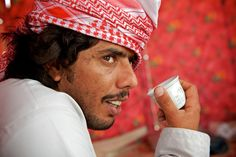 A Bedouin from Oman in his tent near Doha, Qatar. Through chance, we ended up spending a bit of time with him and his family. Photo credit: James Duncan Davidson