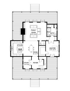Coastal Home Plans - Nellie Creek Cottage