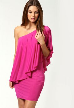 BrytCouture - Lisa One Shoulder Drape Bodycon Dress, US$34.99 (http://www.brytcouture.com/lisa-one-shoulder-drape-bodycon-dress/)