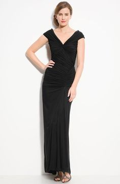 Tadashi Shoji Ruched Mesh Gown (Regular & Petite) available at #Nordstrom