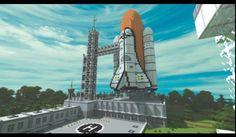 Minecraft nasa rocket.