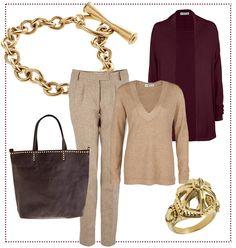#Elegant und #komfortabel in #beige und #burgund by Brigitte von Boch #bevonboch