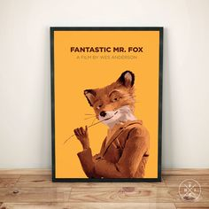 FANTASTIC MR FOX (2009) Wes Anderson George Clooney Bill Murray Minimalist Movie Print Office Inspirational Decor Quote Poster Custom Size