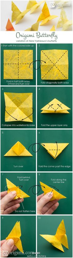 origami butterfly tutorial DIY