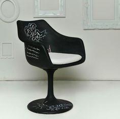 Chalkboard Tulip Chair - lifestylerstore - http://www.lifestylerstore.com/chalkboard-tulip-chair/