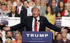 Success: Republican veterans believe if Trump wins Iowa the momentum of his campaign will be irresistible