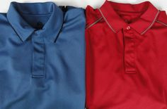 2 Stormtech Mens L Polo Shirts GPX-2 Coolmax 2 Tone Blue & Red SS UV Resistant  #Stormtech #PoloRugby
