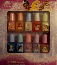$25.00 Every Little Princess Wants to have their nails done like Mommy Disney Princess 10 Piece Nail Polish Set