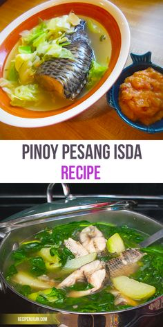 This PESANG ISDA recipe is simple and easy to follow, as this is mainly a ginger stew. Fish can vary but the catfish (Hito) or mudfish (Dalag) are best choices.