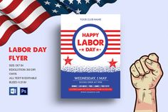 Labor Day Celebration Flyer Corporate Identity template