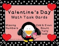 3 complete sets of task cards. Includes: 24 Dice cards numbers 1-10 16 Tally cards numbers 10-25 21 Fill-ins numbers 1-50  Dice and Tally cards have option for also identifying even/odd numbers.  5 Self checking answer sheets Student recording sheet