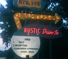 Rustic Drive-In (I've still never been to this drive-in after 5 years in Providence!)