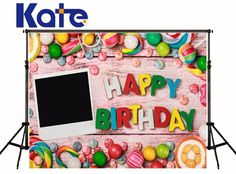 Kate Children Photography Backdrops Colorful Candy Photo Background Photography Backdrop Birthday Letter Photographic Background