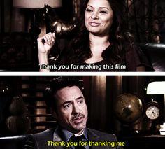 Robert Downey Jr. - so polite to the media