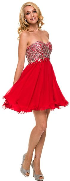Prom Dresses Winter Ball Dresses under $200<BR>6033<BR>Strapless short corset sweetheart dress decorated with stones.