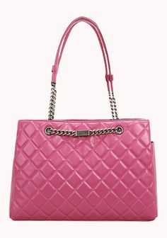 Image of Baginc Barbara Lambskin Leather Bag Hot Pink