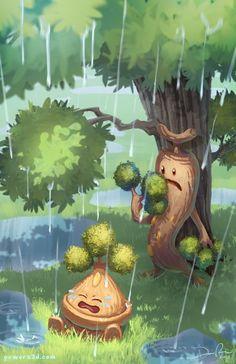 Bonsly And Sudowoodo Art Print Real Pokemon Art Pokemon Pokemon Memes