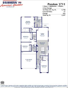 DR Horton Columbia Floor Plan | DR Horton Floor Plans | Pinterest ...