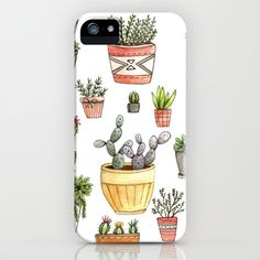 Potted Succulents iPhone & iPod Case by Brooke Weeber - $35.00