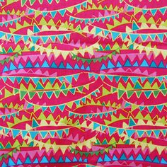 Molokai collection: prayer flag (hot pink) fat quarter