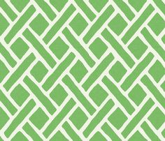 Savannah Trellis in Summer Lawn fabric by willowlanetextiles on Spoonflower - custom fabric