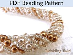 Russian Spiral Stitch PDF Beading Pattern, Necklace Tutorials, Jewelry Tutorial, Beading Patterns, Necklaces, Instructions, Pearls, Crystals