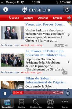 Aplicación iPad del Elysee de Présidence de la République