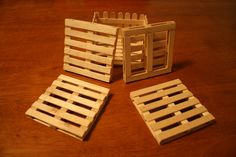 Handcrafted Pallet Coasters with Stack Base
