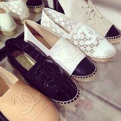 chanel-canvas-slip-on- Stylish slip on shoes http://www.justtrendygirls.com/stylish-slip-on-shoes/