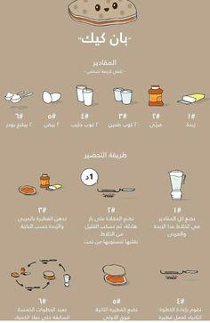 بان كيك Coffee Drink Recipes, Dessert Recipes, Cooking Cake, Cooking Recipes, Cute Food, Yummy Food, Arabian Food, Cake Packaging, Cookout Food
