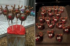 These reindeer cake pops seemed to be frightened by Christmas! #pinterestfail