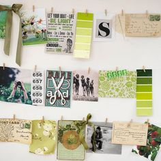 Display keepsakes  Keep notes and personal mementos organized with wire and mini pegs. Simply attach craft wire to nails and then peg on your favorites.