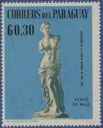 Výsledok vyhľadávania obrázkov pre dopyt stamp correos del paraguay venus de milo